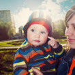 Mother with her son in outdoor — Stock Photo