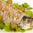Stock Photo: Chopped herring with nuts