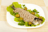 Chopped herring - forshmak — Stock Photo