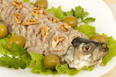 Chopped herring with nuts — Stock Photo