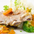 Veal ribs with vegetables — Stock Photo