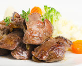 Chicken livers — Stock Photo