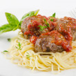 Spaghetti and meat balls — Stock Photo #11161687