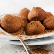 Chocolate Truffles . Close Up — Stock Photo