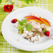 Stock Photo: Healthy breakfast - muesli and fruits