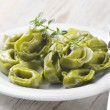 Italian healthy food - Green spinach tortellini — Stock Photo #11577902