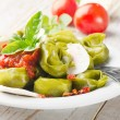 Italian healthy food - Green spinach tortellini — Stock Photo #11577952