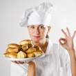 Young woman chef — Stock Photo #12156804