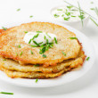 Potato Pancake with Sour Cream — Stock Photo #12331113