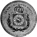 10,000 Reis, Brazil, 1876 — Stock Photo #11863154