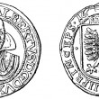 Stock Photo: Quarter of Wallenstein thaler, 1496
