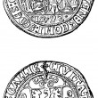 Stock Photo: Aachen penny, 1492
