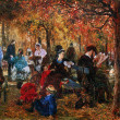 Постер, плакат: Adolf von Menzel Luxembourg Gardens The Pushkin Museum of Fin