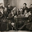 Постер, плакат: Anton Chekhov among artists participants of the play The Seagull