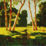 Постер, плакат: Arkhip Kuindzhi The birch grove 1879
