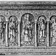 Basel altar board, 11th century, Musee de Cluny, France - Stock Photo