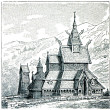 Stock Photo: Borgund Stave Church