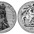 British Sovereign, 1889 — Stock Photo