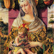 Carlo Crivelli - Madonna and Child — Stock Photo