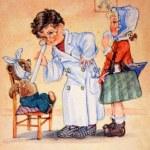 Childrens playing medicine — Stock Photo