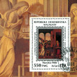 Postmark with angels — Stock Photo