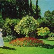 Claude Oscar Monet -  Lady in the Garden (Sainte-Adresse) - Stock Photo