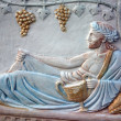 Bas-relief of Bacchus - Stock Photo
