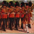 Draw by Harry Paine The Coldstream Guards — Stock Photo