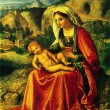 Постер, плакат: Giorgione The Virgin and Child in a Landscape
