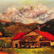 ������, ������: Gustave Courbet A Hut in the Mountains