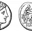 Постер, плакат: Head Apollo victorious chariot gold stater of Philip 2 of Mace