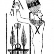 Horus is one of the oldest and most significant deities in ancie — Stock Photo