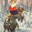 例证对俄罗斯童话故事狼和狐狸 — 图库照片