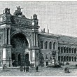 Industrial Pavilion International Exhibition in Paris, 1855 — Stock Photo