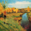 Isaac Levitan - Golden Autumn — Stock Photo