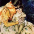 Mary Stevenson Cassatt - Mother and Child — Stock Photo