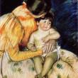Mary Stevenson Cassatt - Mother and Child — Stock Photo