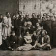 Постер, плакат: Maxim Gorky among artists participants of the play Philistin