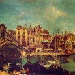 Michele Marieschi - The Rialto Bridge in Venice — Stock Photo #11867815