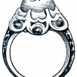 Stock Photo: Ring of Frederick I, Prussia, 17 century