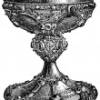 Saint Remigius bowl, 12th century, cathedral of Rheims, Germ — Stock Photo #11869423