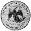 Stock Photo: Silver Dollar, USA, 1874