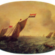 Simon De Vlieger - Ships on a Windy Day — Stock Photo #11869984