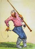 Fisherman caught a self — Stock Photo