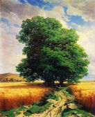 Alexandre Calame - Landscape with Oaks — Stock Photo