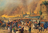 An unknown Austrian artist - Moscow fire in 1812 — Stock Photo