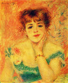 Auguste Renoir - Portrait of the Actress Jeanne Samary. Study. — Stock Photo