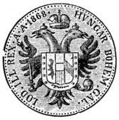 Austrian Ducat, 1868 — Stock Photo