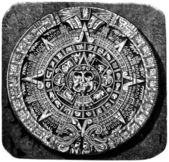 Aztec calendar stone — Stock Photo