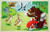 Bear-postman — Stock Photo